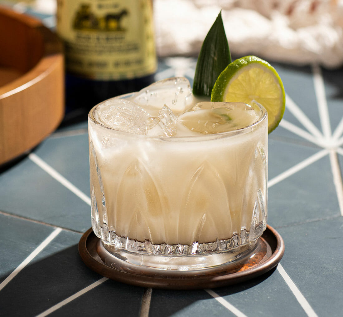 closeup of the Corralejo Re'al: a favorite corralejo cocktail
