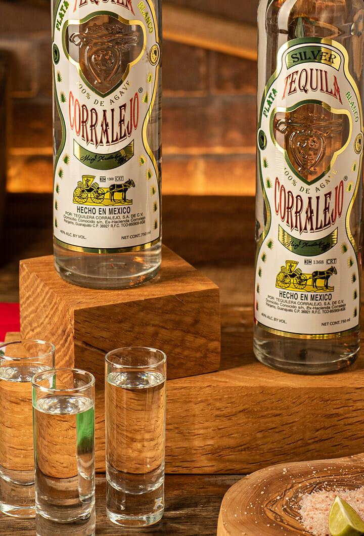 corralejo silver bottles & shots