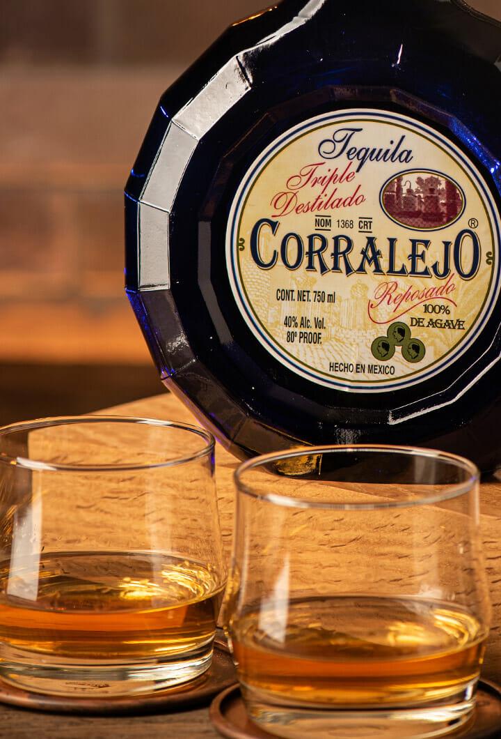 Corralejo Triple Distilado poured neat in glasses